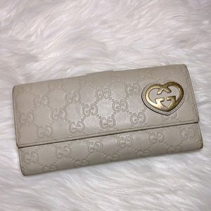 Gucci Guccissima 'Lovely Heart' Leather Wallet